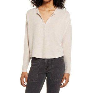 Socialite Pink Smoke V-Neck Longsleeve Sweater Top Size XS